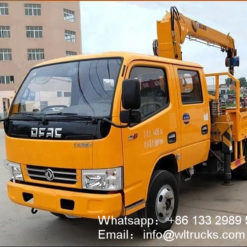 3 ton dump truck with crane