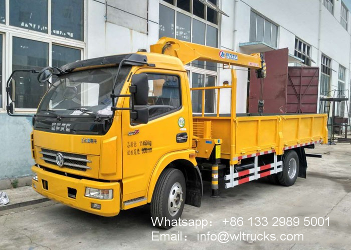 Dongfeng 5 ton Straight arm truck mounted crane