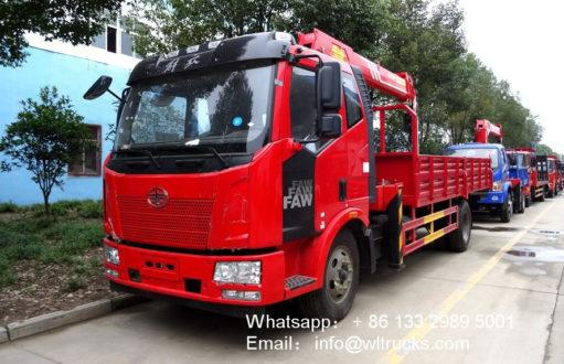 FAW 8 ton truck mounted crane