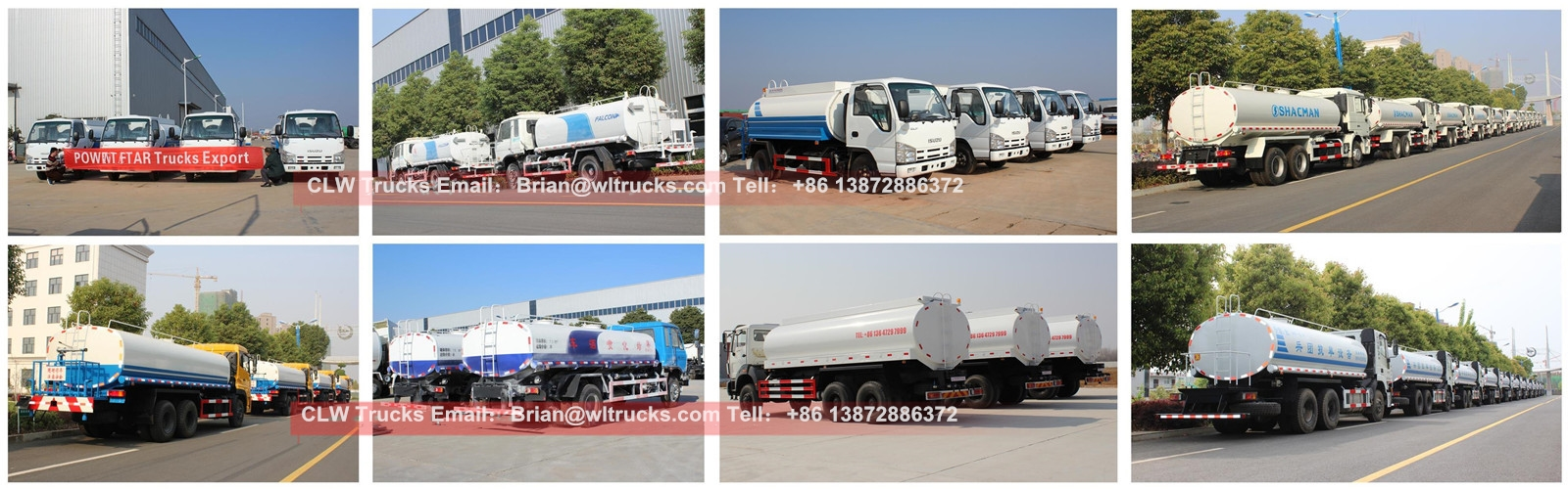 water tank truck Batch delivery case