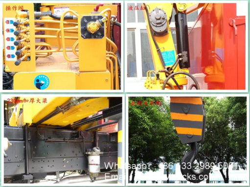 Dongfeng Straight arm truck mounted crane