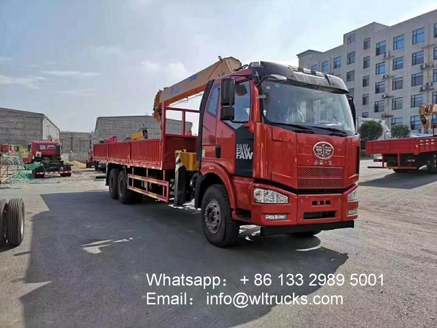 FAW 10ton to 12ton truck crane