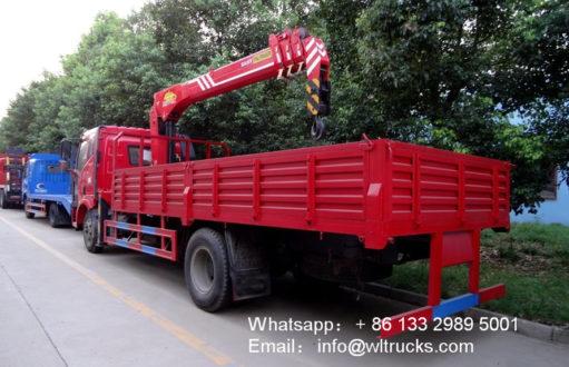 FAW truck mounted crane