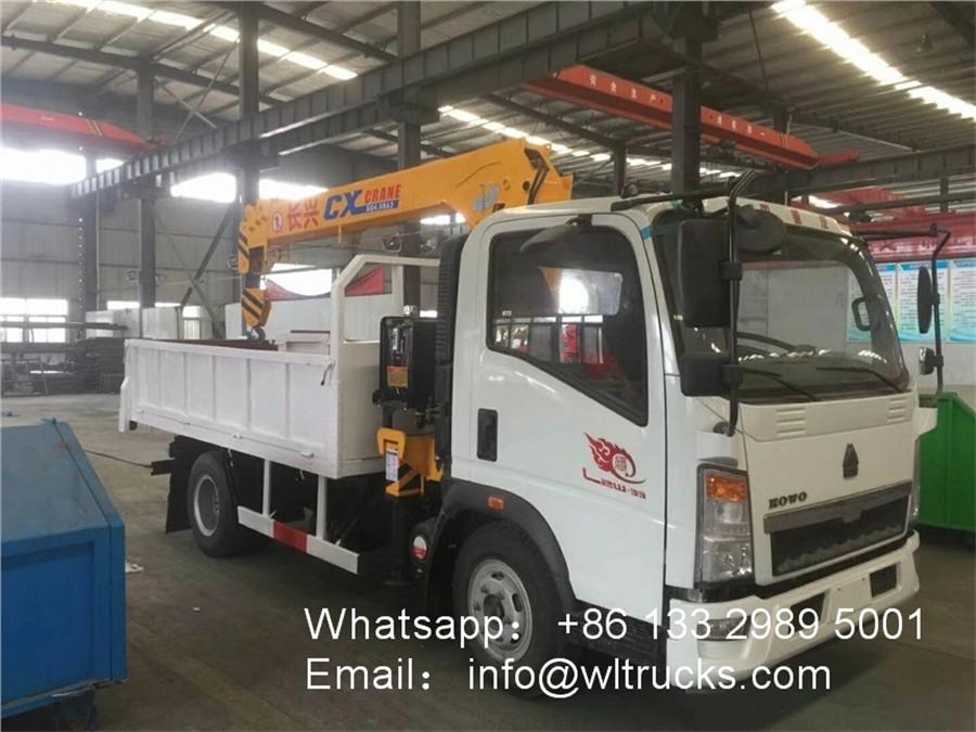 HOWO 3 ton truck crane