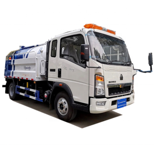 HOWO 8000liter sewer jetting sewage suction truck