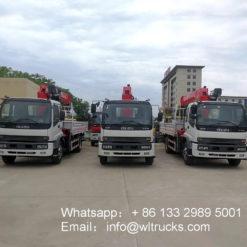 ISUZU 10ton truck mounted crane