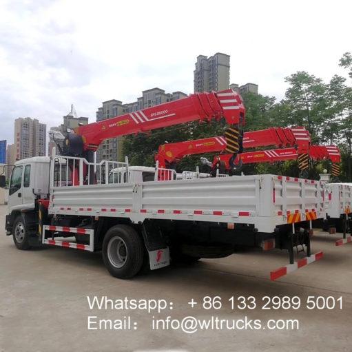 ISUZU 8ton truck mounted crane