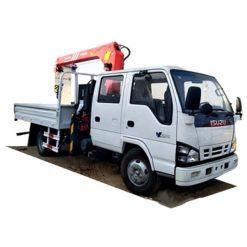 ISUZU double row 4ton 5ton mobile truck crane