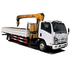 ISUZU elf 5ton truck with crane