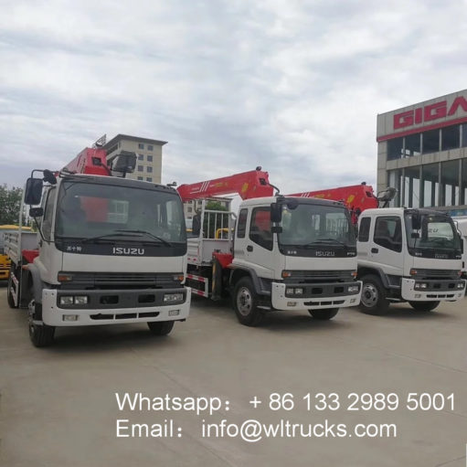 ISUZU ftr 10ton truck mounted crane