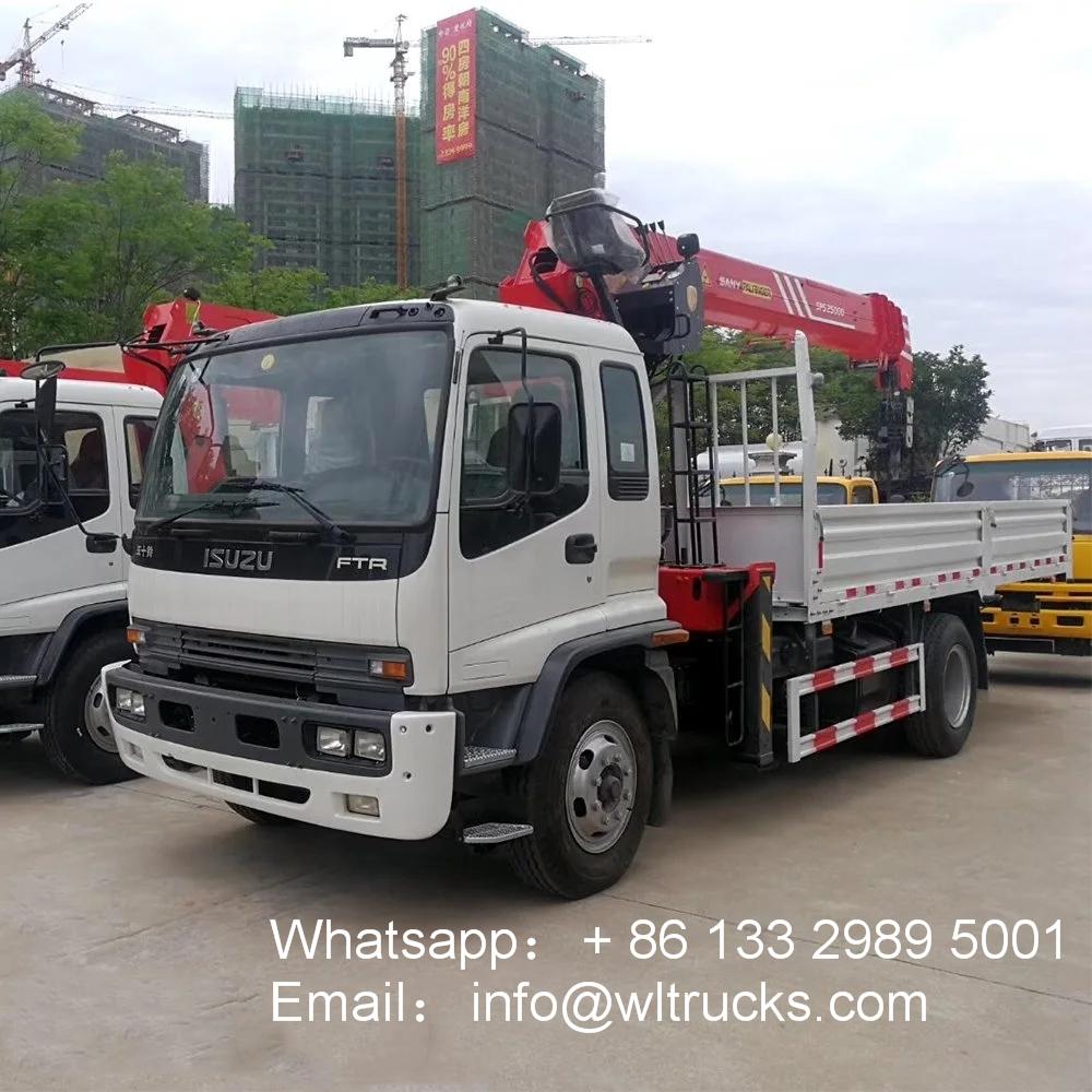 ISUZU ftr 8ton 10ton truck mounted crane