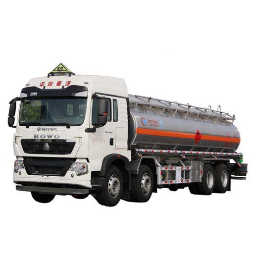 Sinotruk HOWO 30000liters Aluminum alloy fuel oil tank truck