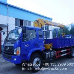 Foton 6.3 ton truck mounted crane