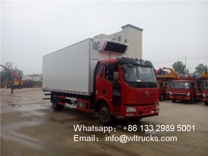 FAW 10 ton to 15ton Freezer Transport Refrigerated Truck