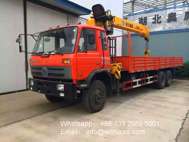 10 wheel DFAC 10ton to 12ton mobile crane truck