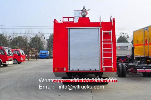 10 wheel water tank fire fighting truck