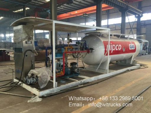 10000 liter gas skid station