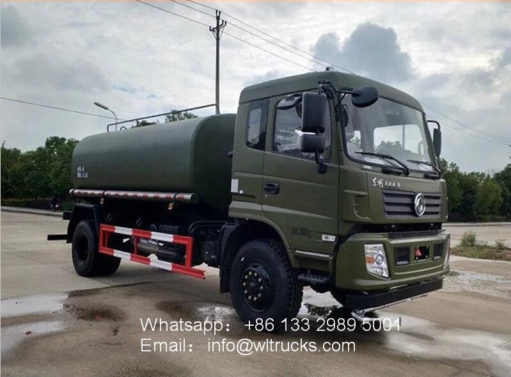 4x4 Dongfeng 10000L to 15000L drinking water tank truck