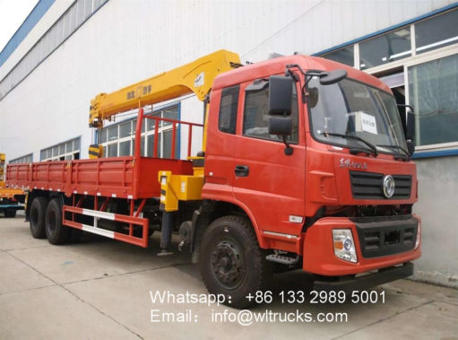 6x4 Dongfeng 10ton 12ton service truck with crane
