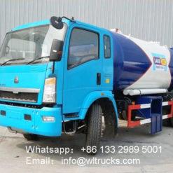 HOWO 12000liter lpg refilling truck