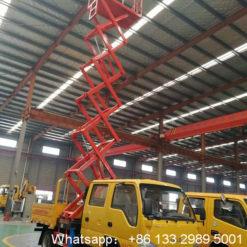 12m hydraulic lift platform truck