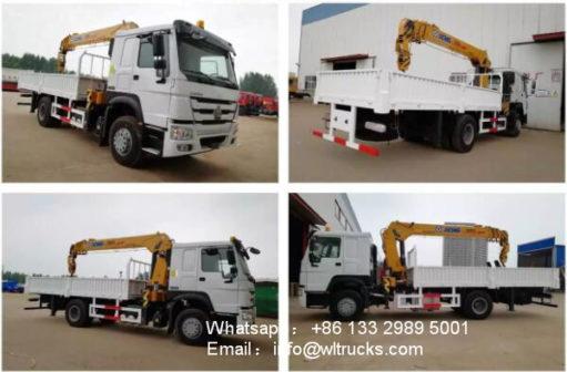 HOWO 10ton to 12ton truck and crane