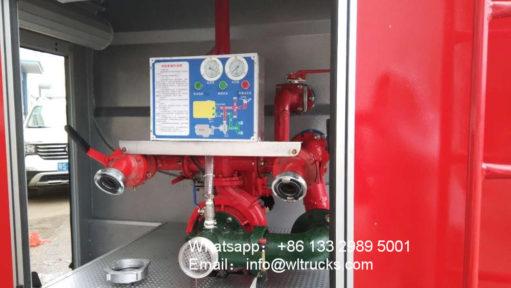 15000L fire water truck