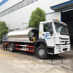 HOWO 15m3 intelligent asphalt/bitumen distributor truck