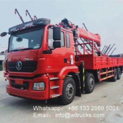 Shacman 14ton 16ton crane lift truck