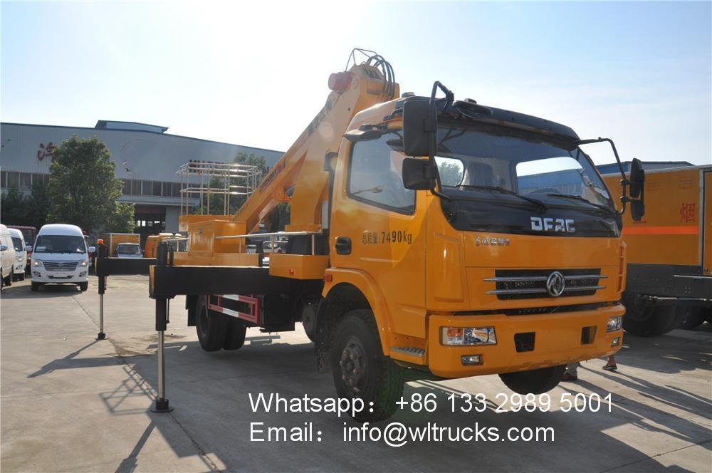 DFAC 18 meter to 20 meter telescopic boom aerial platform truck