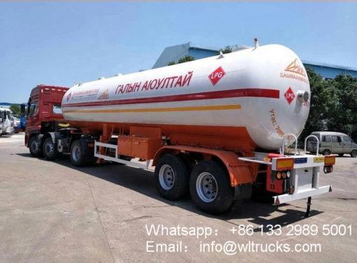 2 Axle 40000liters lpg semi trailer