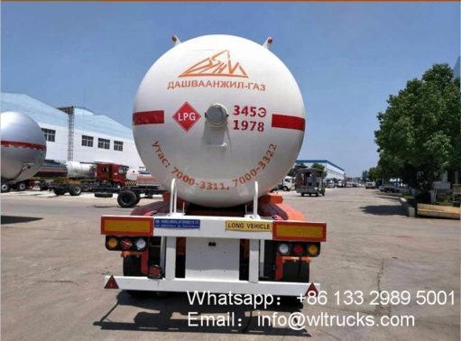 2 Axle lpg semi trailer