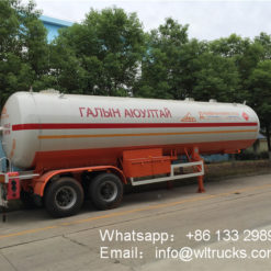 2 Axles lpg tanker trailer