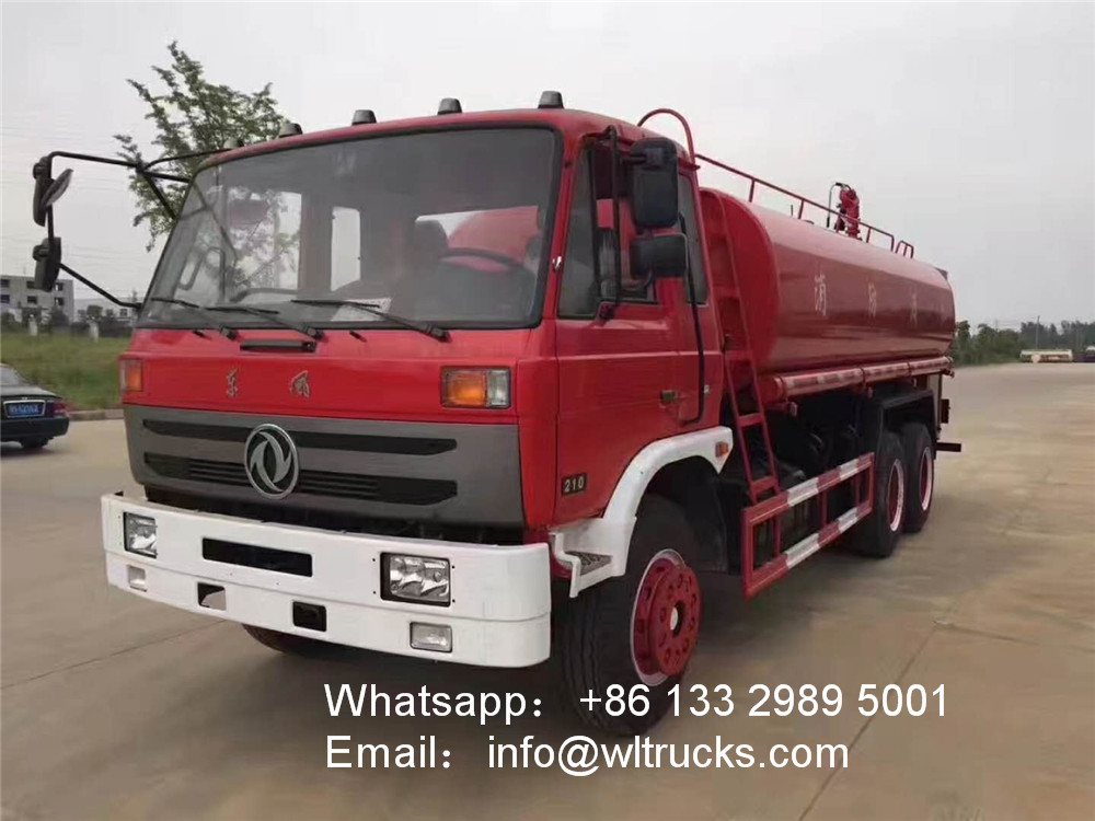 6x4 Dongfeng 15000L to 20000L fire water truck
