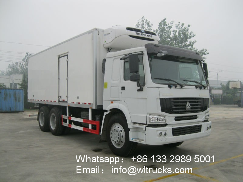 6x4 Sinotruk howo 18ton to 20ton refrigerated container truck