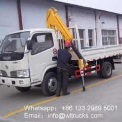3 ton folding arm truck mounted crane