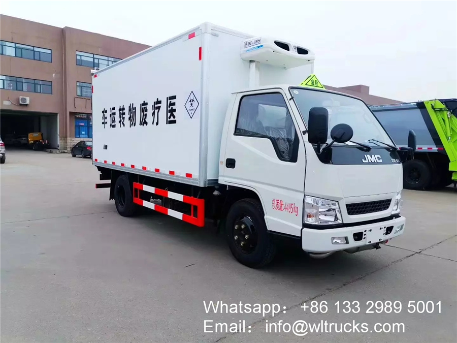 JMC 3 ton medical waste collection truck
