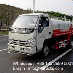 Foton 3000 liter mini water sprinkler truck