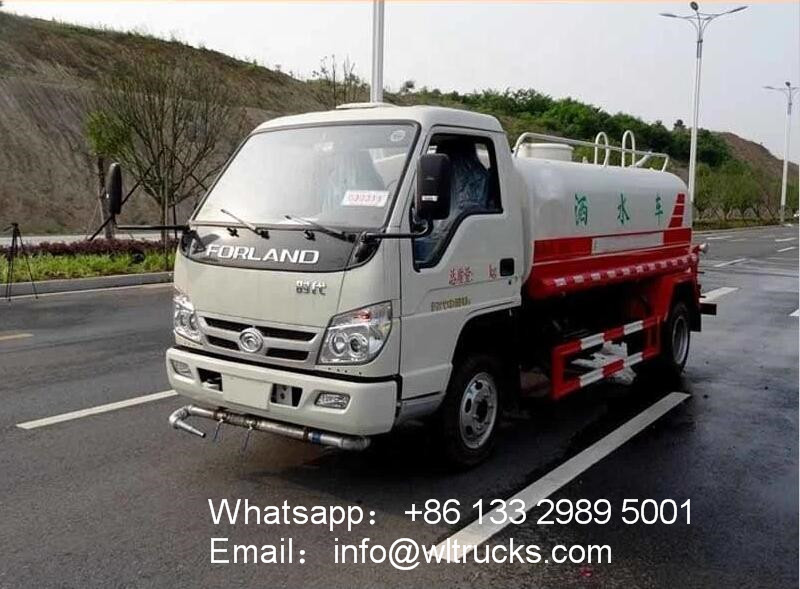 Foton 3000 liter mini water sprinkler truck