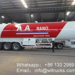 3axles 62000liter 26ton lpg semi trailer