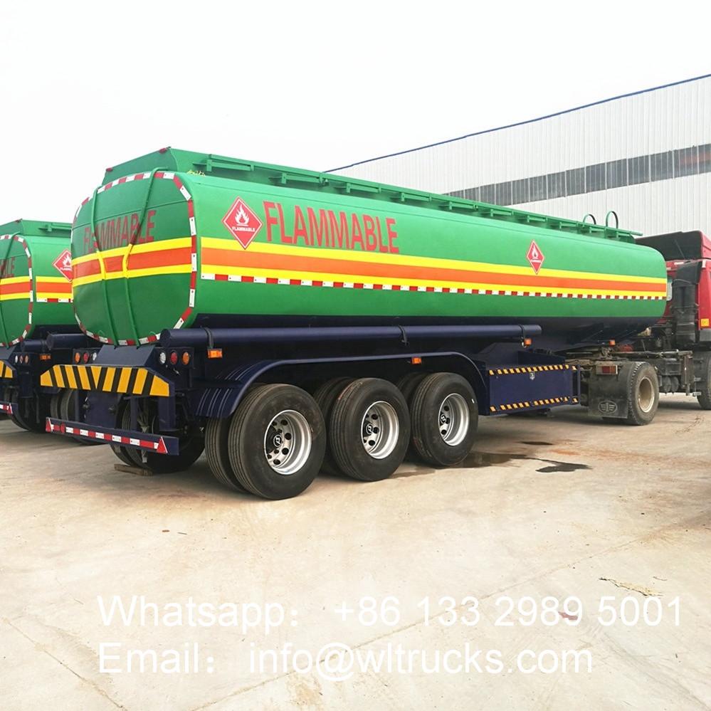 3 axle 40000 liter to 65000 liter water bowser trailer