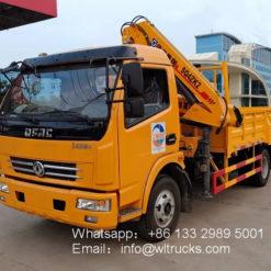 Dongfeng 4ton to 5ton folding arm mobile truck crane