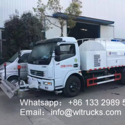 6000 liter high pressure road washing truck