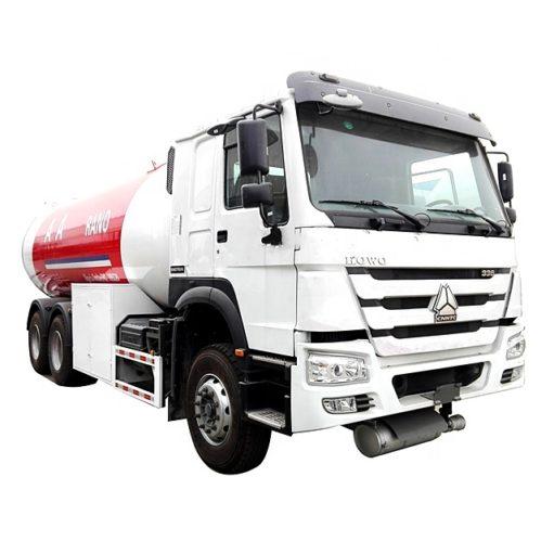6X4 Sinotruk Howo 20000L to 25000L lpg tanker truck