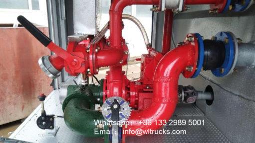 6x4 15000L to 20000L fire water truck