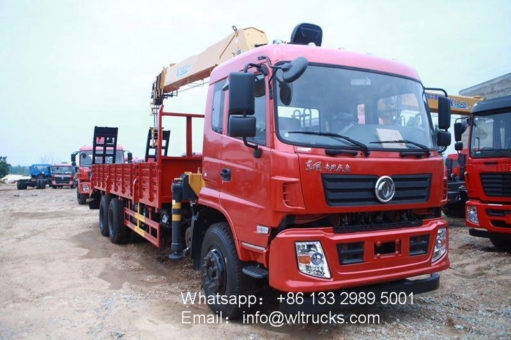 6x4 Dongfeng service truck with crane