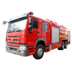 6x4 HOWO 16ton water foam fire engine truck