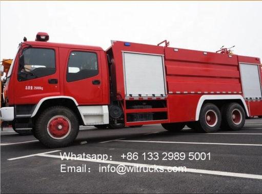6x4 Japan ISUZU FVZ 11000 liter fire truck