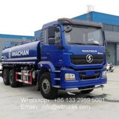 6x4 Shacman 20m3 to 25m3 water bowser truck