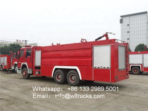 6x4 Sinotruk howo 16000L fire truck